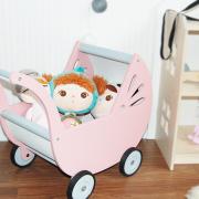 cochecito para muñecas - carrito de muñecas - cochecito de madera - juguetes de madera - juguetines