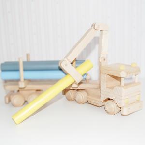 camion con troncos -camion de madera - juguetines