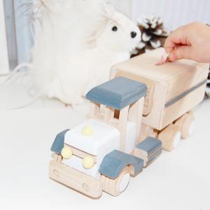 camion hucha - camion de madera - juguetines