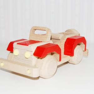 coche de madera - jeep de madera - juguetines