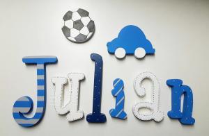 letras de madera -letras pared - letras adhesivas - nombre en madera - letras para la pared - letras para la puerta - juguetines
