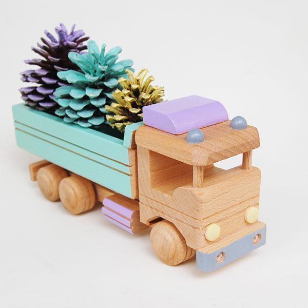 camion de madera - juguetes de madera - juguetines