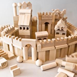 bloques construccion de madera -juguetines