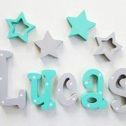 letras de madera - nombre leo - nombre en madera - nombre personalizado - nombre pintado a mano - regalo bautizo baby shower - regalo reciennacido - nombre para pared - letras de madera - letras adhesivas - juguetines