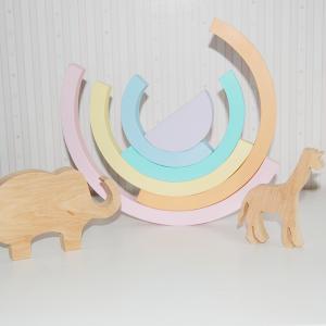 arcoiris montessori arcoiris waldorf arcoiris grimms juguetes de madera juguetines