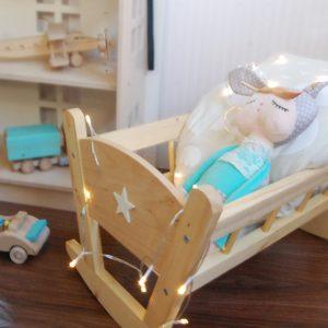 cuna de madera cuna para muñecas juguetes de madera - juguetines