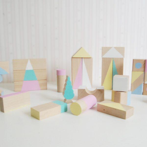 bloques de madera - juguetes de madera - bloques construccion - juguetibes