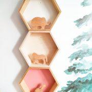 estanteria hexagonal - estanteria infantil - decoracion infantil - juguetines