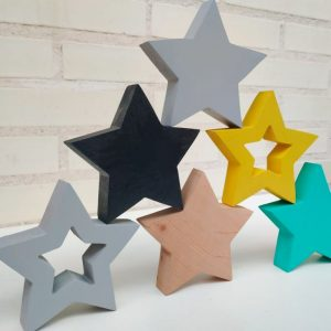 estrellas de madera - estrellas decorativas - estrellas adhesivas - decoracion infantil - juguetines