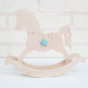 Caballito decorativo - decorcion de madera - decoracion infantil - juguetines