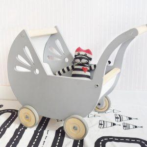 cochecito de madera + carrito de madera + cochecito para muñecas + juguetes de madera