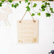 Abecedario de madera - abecedario pared - decoracion infantil - Juguetines