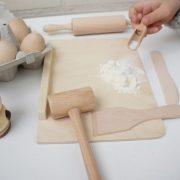 kit pequeño cocinero - juguetes de madera - cocinita de madera - pequeño chef - set pequeño chef - kit pequeño chef - Juguetines.