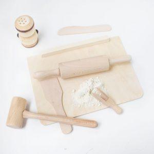 kit pequeño cocinero - juguetes de madera - cocinita de madera - pequeño chef - set pequeño chef - kit pequeño chef + juguetines.