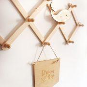 perchero de madera perchero decorativo juguetines