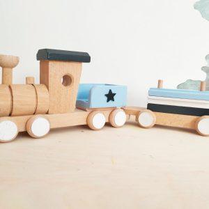 tren de madera es un juguete de madera ideal para los pequeños exploradores para desarrollar su motricidad fina y a la vez decorar la habitación infantil