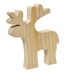 reno de madera es una decoración navideña ideal y también sirve perfectamente como un elemento decorativo en habitación infantil