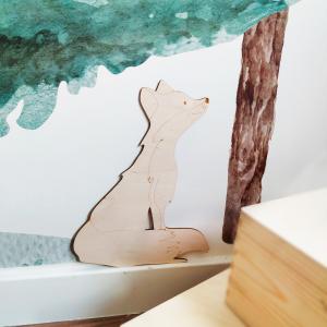 zorro de madera es un decorativo ideal para la habitación infantil