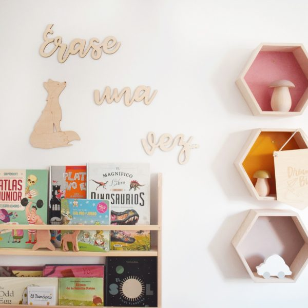 Frase decorativa frase en madera frase pared frase habitación infantil juguetines..