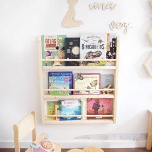 estanteria para libros Montessori es una estantería infantil ideal para los espacios de lectura infantiles